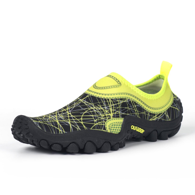 Hishoes Men and Women Ultra-Soft Quick Drying Aqua Water Shoes Lightweight Walking Sneakers Summer Anti-Slip Hiking Shoes B079GYLPRY 39/8 B(M) US Women/6.5 D (M) US Men|Green