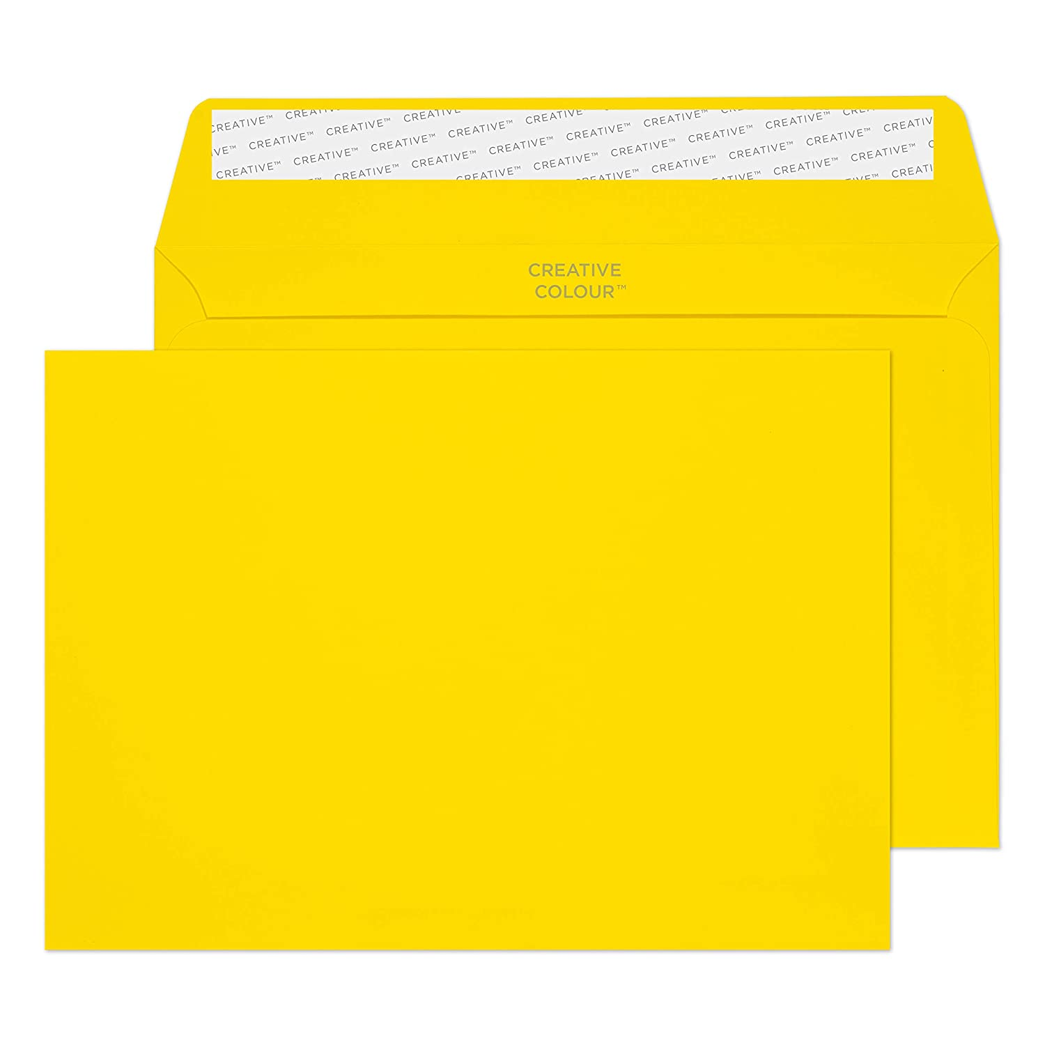 Blake Creative Color Booklet Invitation Envelopes, 6 x 9', Egg Yellow, Peel & Seal  (304-76) - Pack of 500