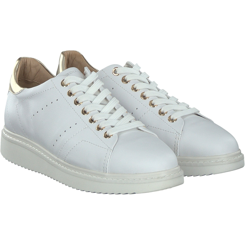 Geox D Thymar a, Zapatillas para Mujer 41 EU|Blanco