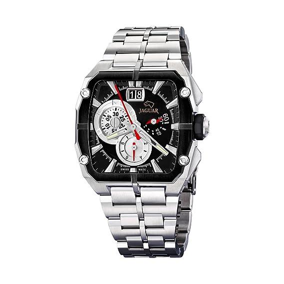 Jaguar 636/2 - Reloj de Caballero de Cuarzo, Correa de Acero Inoxidable Color Plata: Amazon.es: Relojes