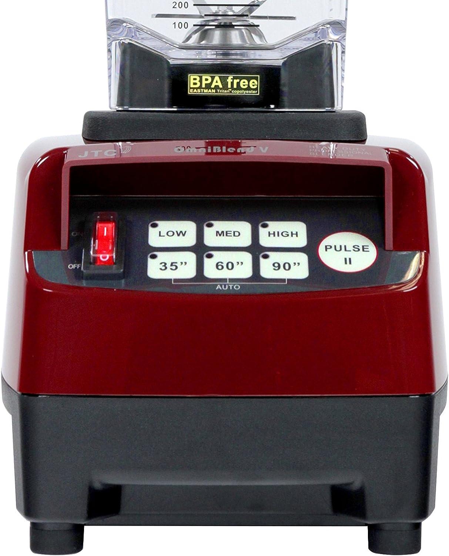 JTC Omniblend licuadora batidora rojo cereza 2 L 2238 W: Amazon.es ...
