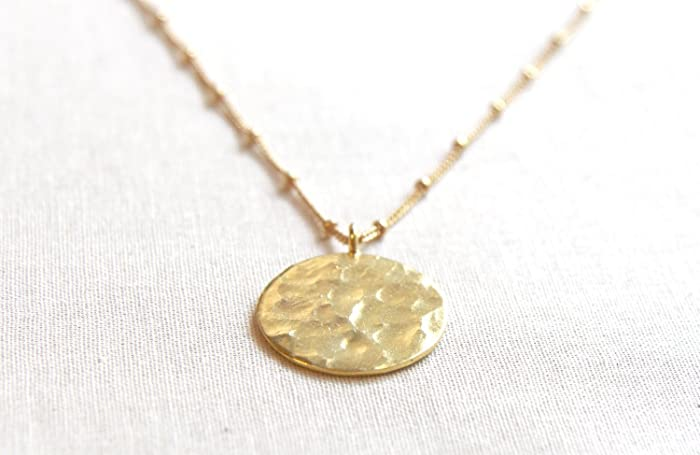 my gold golden clumsy heart products coin grande necklace oh