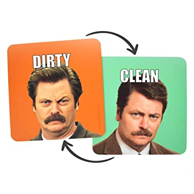 Ron Swanson: Clean Dirty Dishwasher Magnet - Waterproof UV Coating - Made in the USA