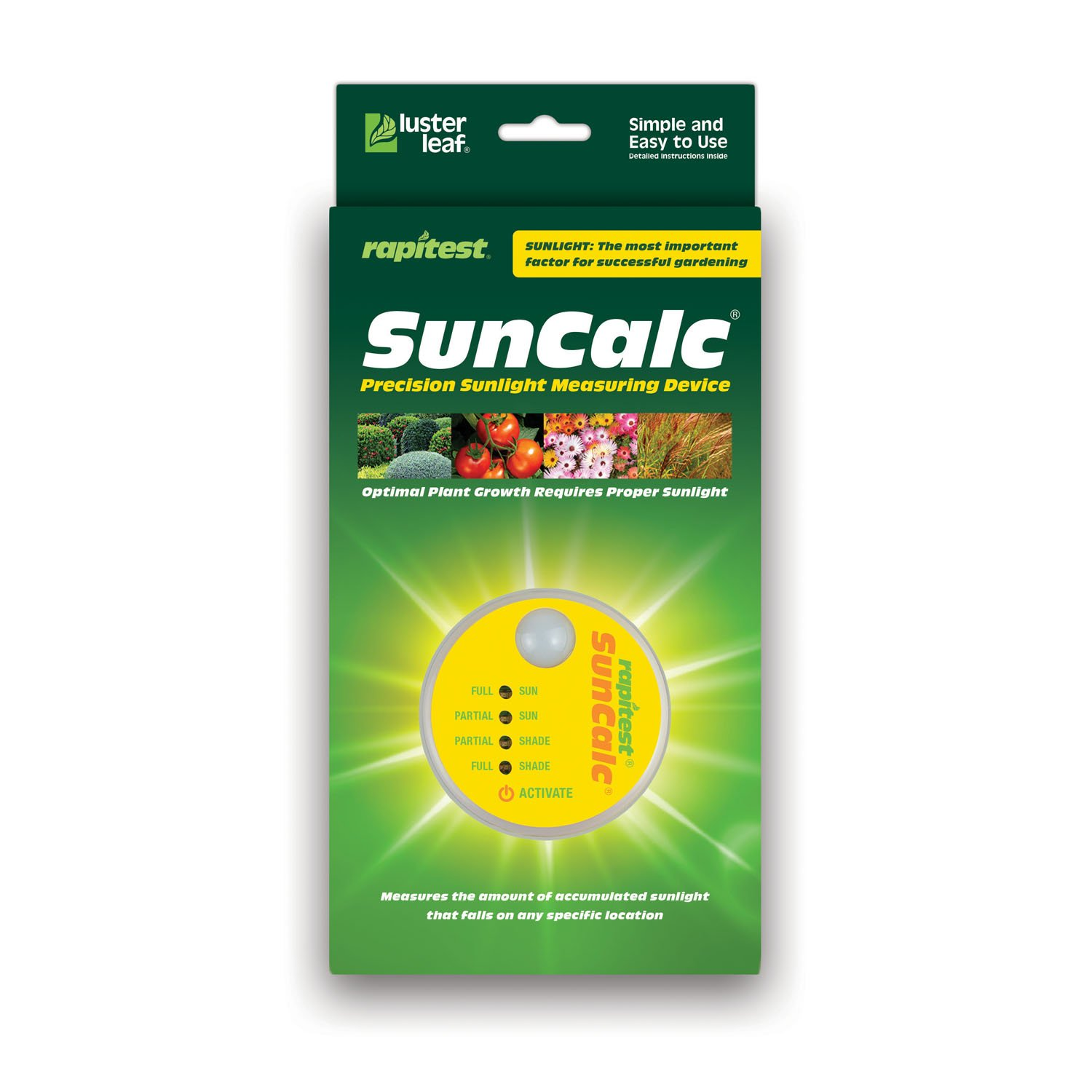 Luster Leaf 1875 Rapitest Suncalc Sunlight Calculator