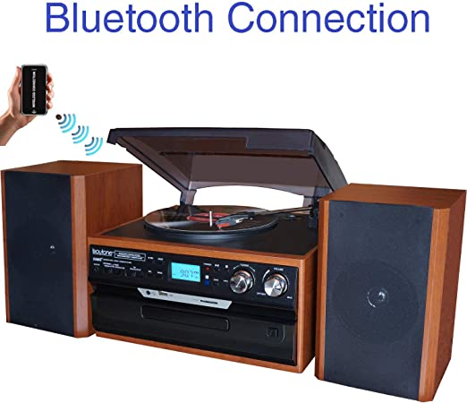 Amazon.com: Boytone BT-24MB - Tocadiscos Bluetooth con radio ...