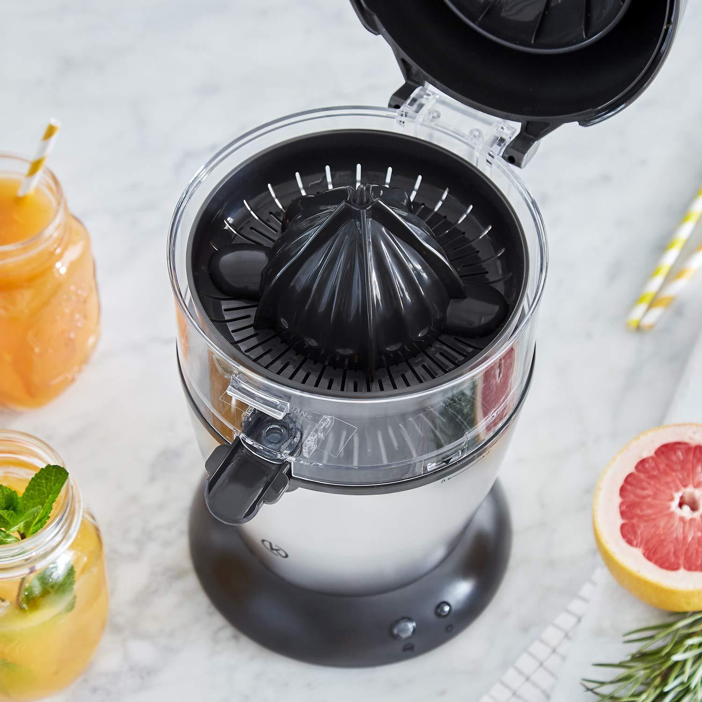 Exprimidor de zumo completamente automatico | Exprimidor Electrico de naranjas, Limones, Cítricos | 400 ml | Acero Inoxidable | + Receta Gratis (PDF): ...