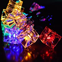Xcellent Global 40 LED Battery Operated Fairy String Lights Ice Cube Multi-Colour Deck Christmas Lights for Gardens, Lawn, Patio, Christmas Trees, Weddings, Parties, Indoor LD076
