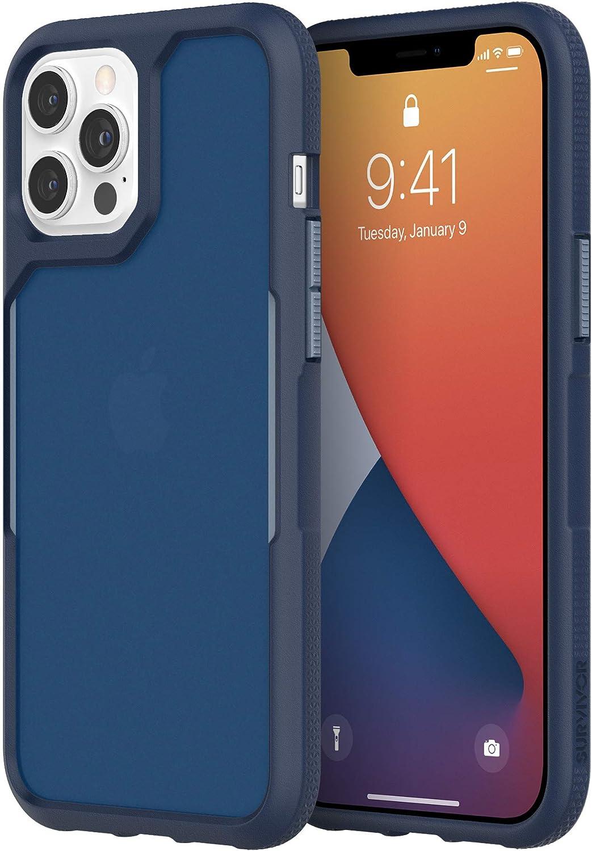 Survivor Endurance Case Compatible with iPhone 12 Pro Max (Navy)