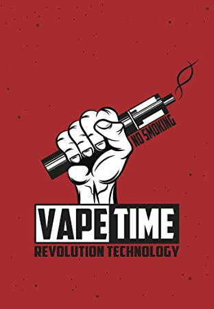 Amazon Com Strong No Smoking Vape Time Fist Cartoon Banner Vinyl Decal Sticker 12 Tall Automotive