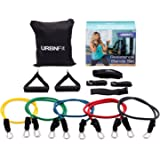 Resistance Bands Set (12 Piece) Includes Door Anchor, Ankle & Wrist Strap, Exercise Guide And Carrying Bag For Strengthening And Training (Pro Series) by URBNFit