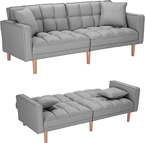 Convertible Sleeper Sofa Bed Modern Futon Sofa Couch,Sectional Sofa,Fabric Recliner Back and Armrest Sofa Couch