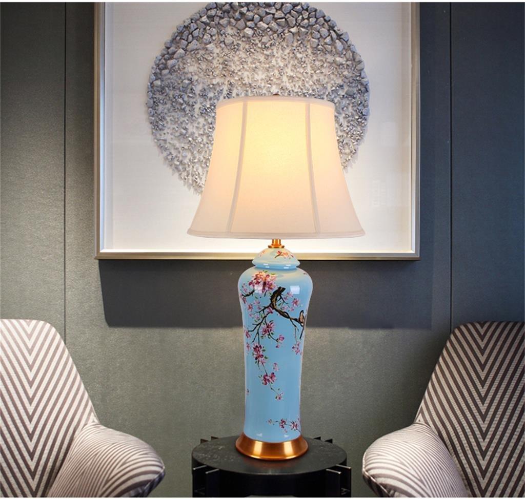 Keramische Tischlampe American Classic Schlafzimmer Bett High-End-Chinesisch-Stil Wohnzimmer Lampe