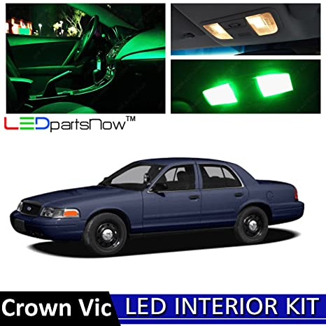 Ledpartsnow   Ford Crown Victoria Led Interior Lights Accessories Replacement Package Kit