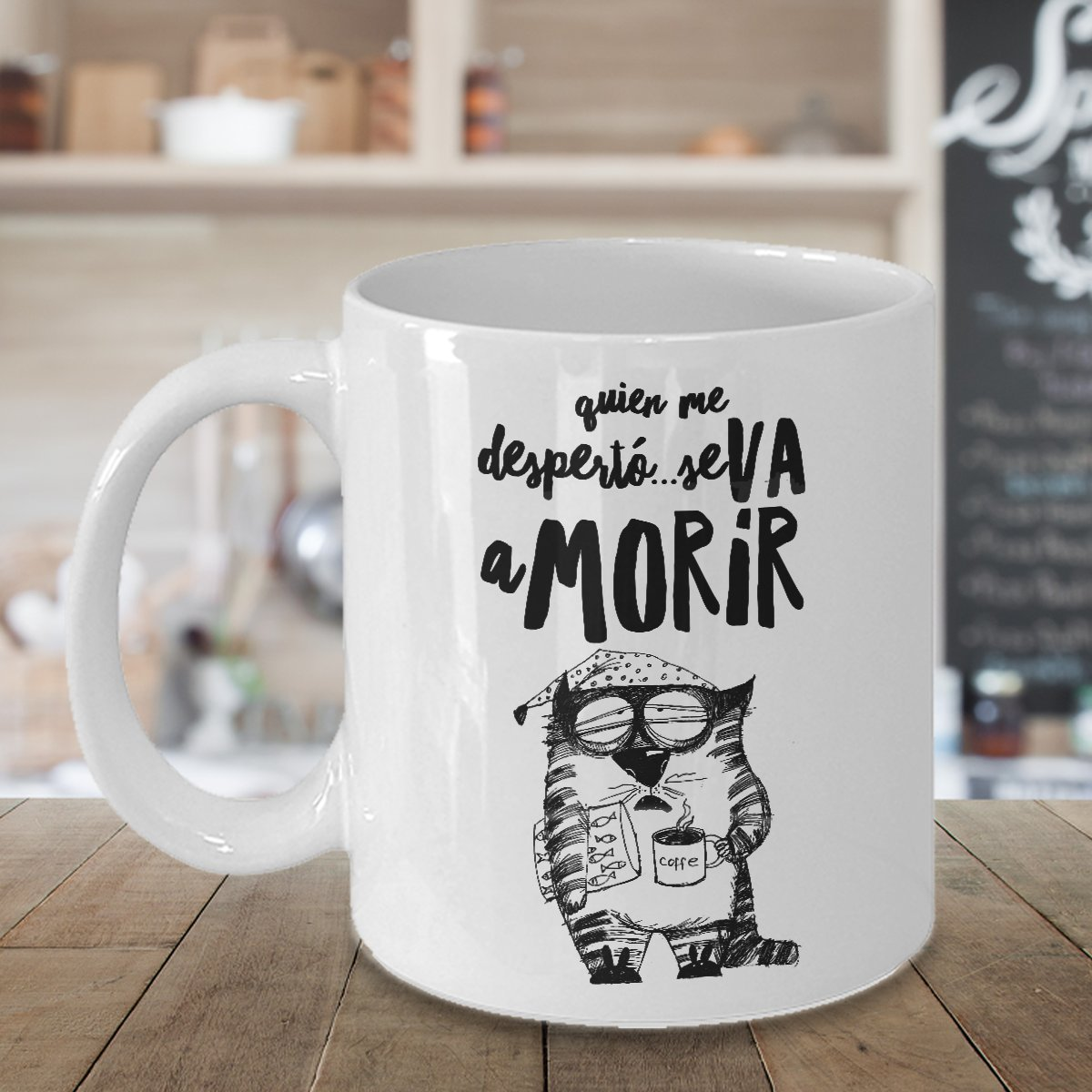 Amazon.com: Tazas de Cafe Gatos Chistosas ; Mugs in Spanish ; Regalo para hombre el dia del padre: Kitchen & Dining