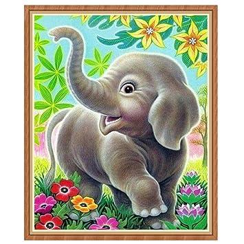 Elefant 5D Diamant Paintings Diamond Malerei Stickerei DIY Kreuzstich Bild Deko