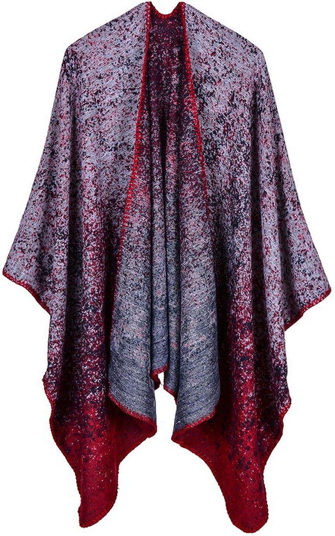 longing-summer Batwing SLE Sweater Cloak Cape Coat Poncho Multi Functional Shawl Cloak