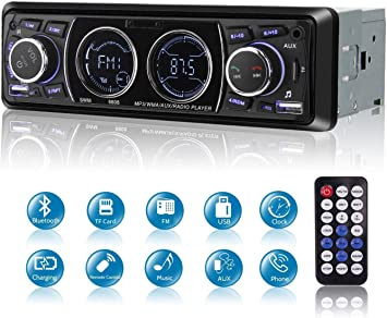 12V Fm Car Stereo Radio Bluetooth 1 Din In Dash Wiring Diagram from images-na.ssl-images-amazon.com