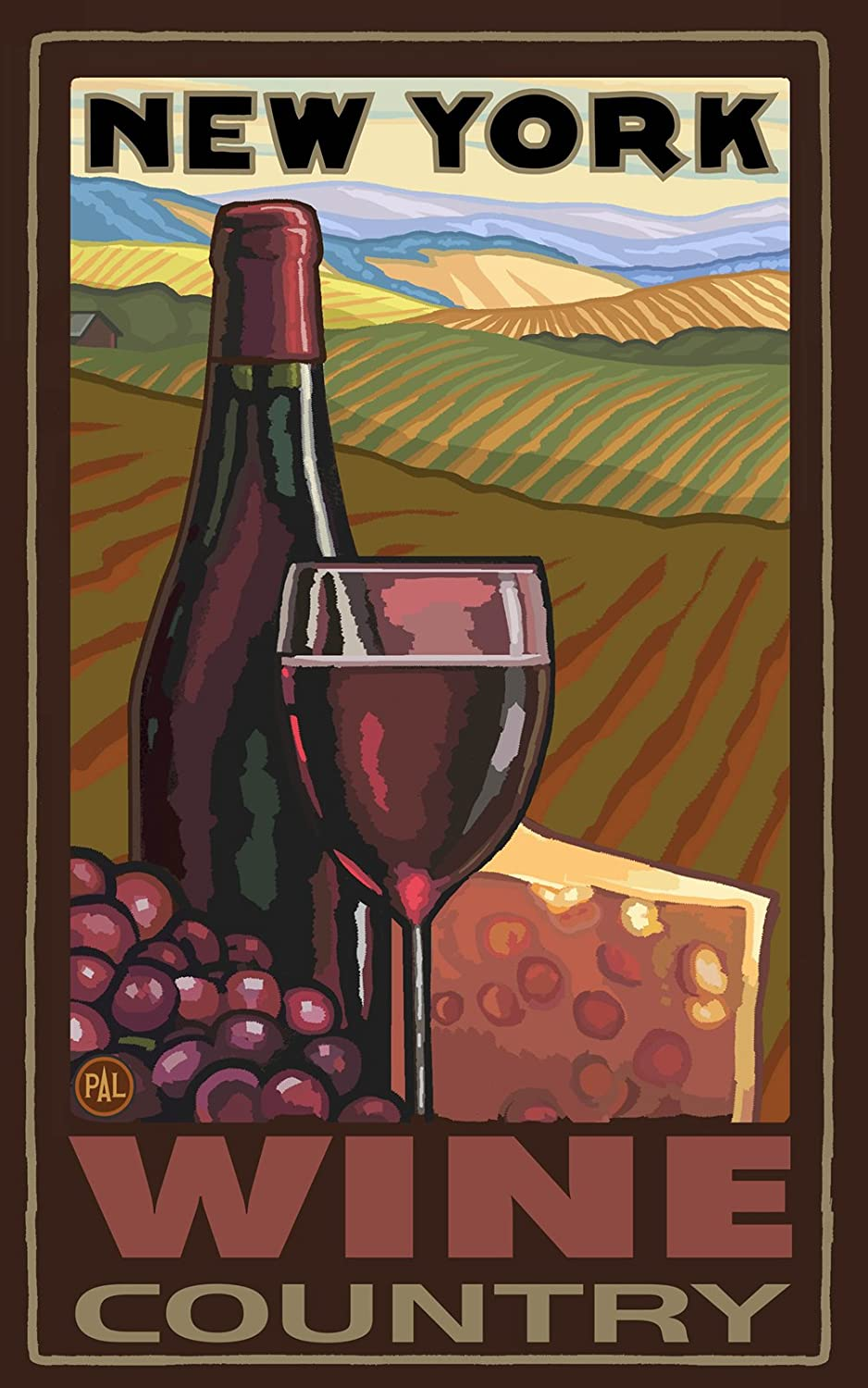 11 by 17-Inch Northwest Art Mall New York Wine Country Wall Art by Paul A Lanquist