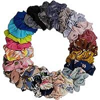 DA2S Scrunchies for Hair Velvet Elastic Ties Women TS001 Mix 24pcs