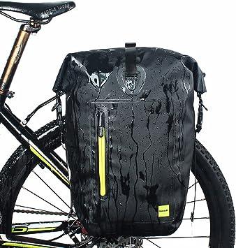 LKN 25L impermeable bolsa alforja trasera de bicicleta trasera ...