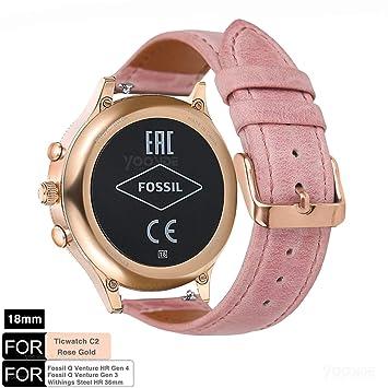 YOOSIDE para Fossil Venture Correa de Reloj, 18 mm de liberación ...