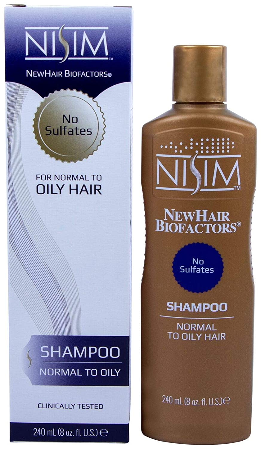 NISIM Normal To Oily Hair Shampoo 8Oz/240Ml - Hairloss Reduction In 1 Week, 240 Milliliters NS-SHAMP-NO8