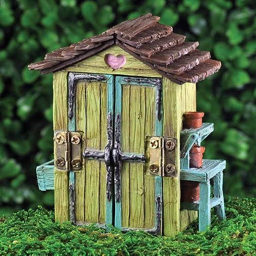 Accesorios para jardín de hadas - cobertizo Mini de jardín: Amazon.es: Hogar