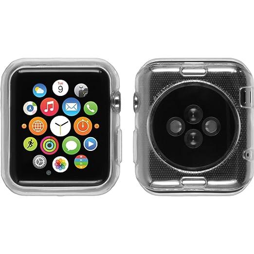 10 opinioni per PhoneNatic Custodia Apple Watch 38mm Cover trasparente Slimcase Watch 38mm in