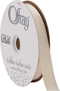 """product image for Berwick Offray 7/8"""" Wide Double Face Satin Ribbon, Cream Ivory, 100 Yards"""