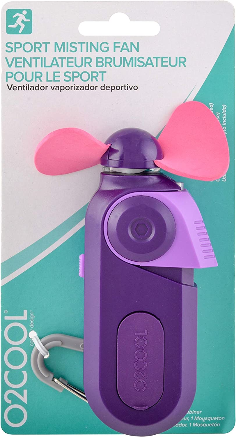 O2COOL FMS0003 Personal Mini Fan-Portable Battery Operated Handheld Cooling Accessory with Fine Mist Spray for Outdoor, Beach, Camping-Convenient ...