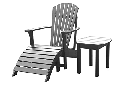 International Concepts Adirondack Chair With Footrest And Side Table   3  Pc. Set