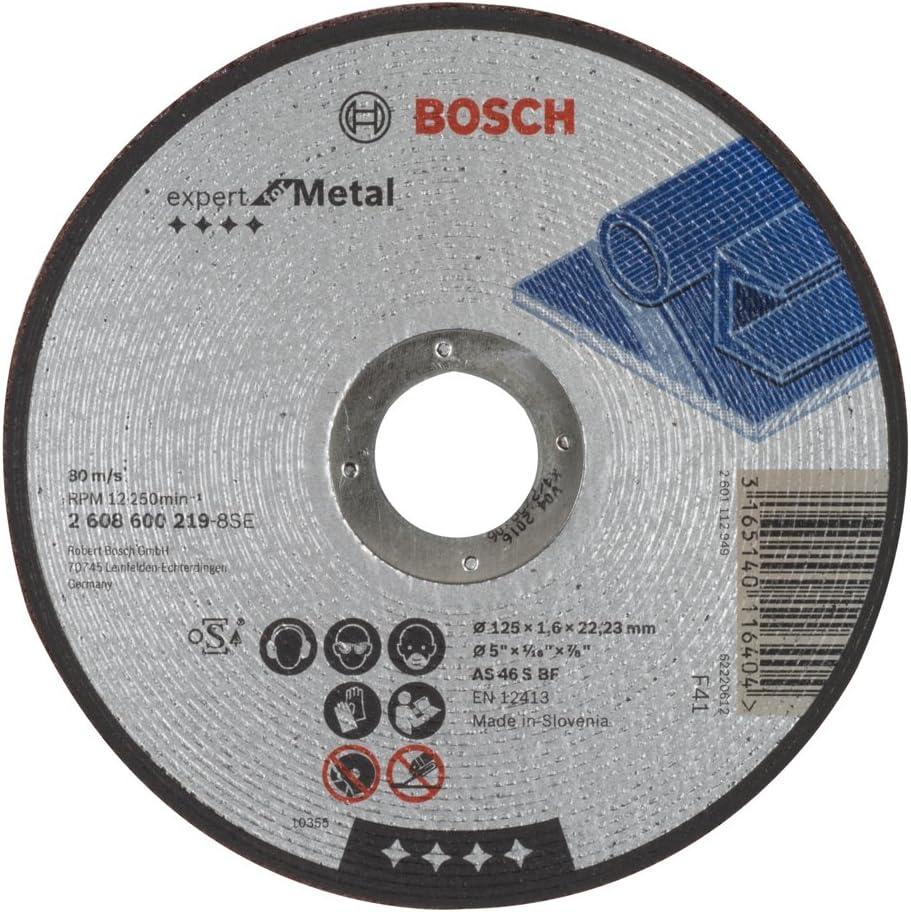 Bosch 2 608 600 219 - Disco de corte recto Expert for Metal - AS 46 S BF, 125 mm, 1,6 mm (pack de 1)