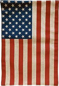 "Briarwood Lane American Flag Burlap Garden Flag 12.5"" x 18"""
