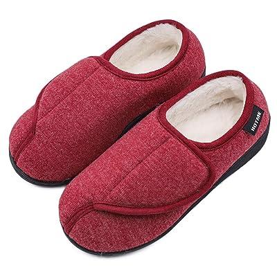 Women's Cozy Memory Foam Diabetic Slippers Comfy House Shoes No-Slip Warm Swollen Feet Edema Elderly | Slippers