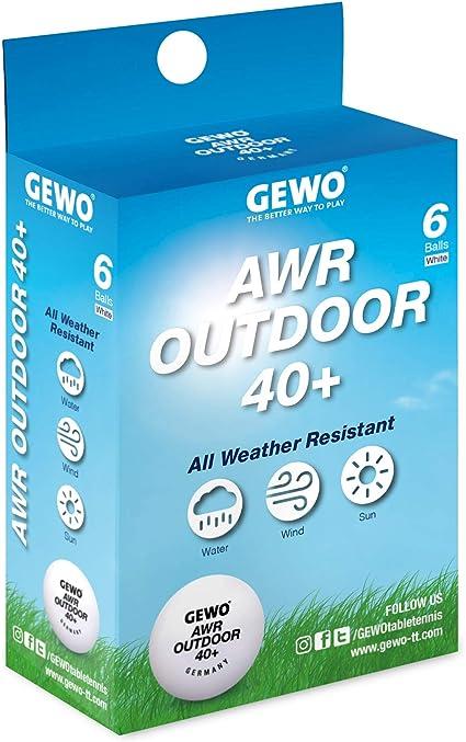 GEWO AWR Outdoor 40+ - Pelota de Tenis de Mesa: Amazon.es ...
