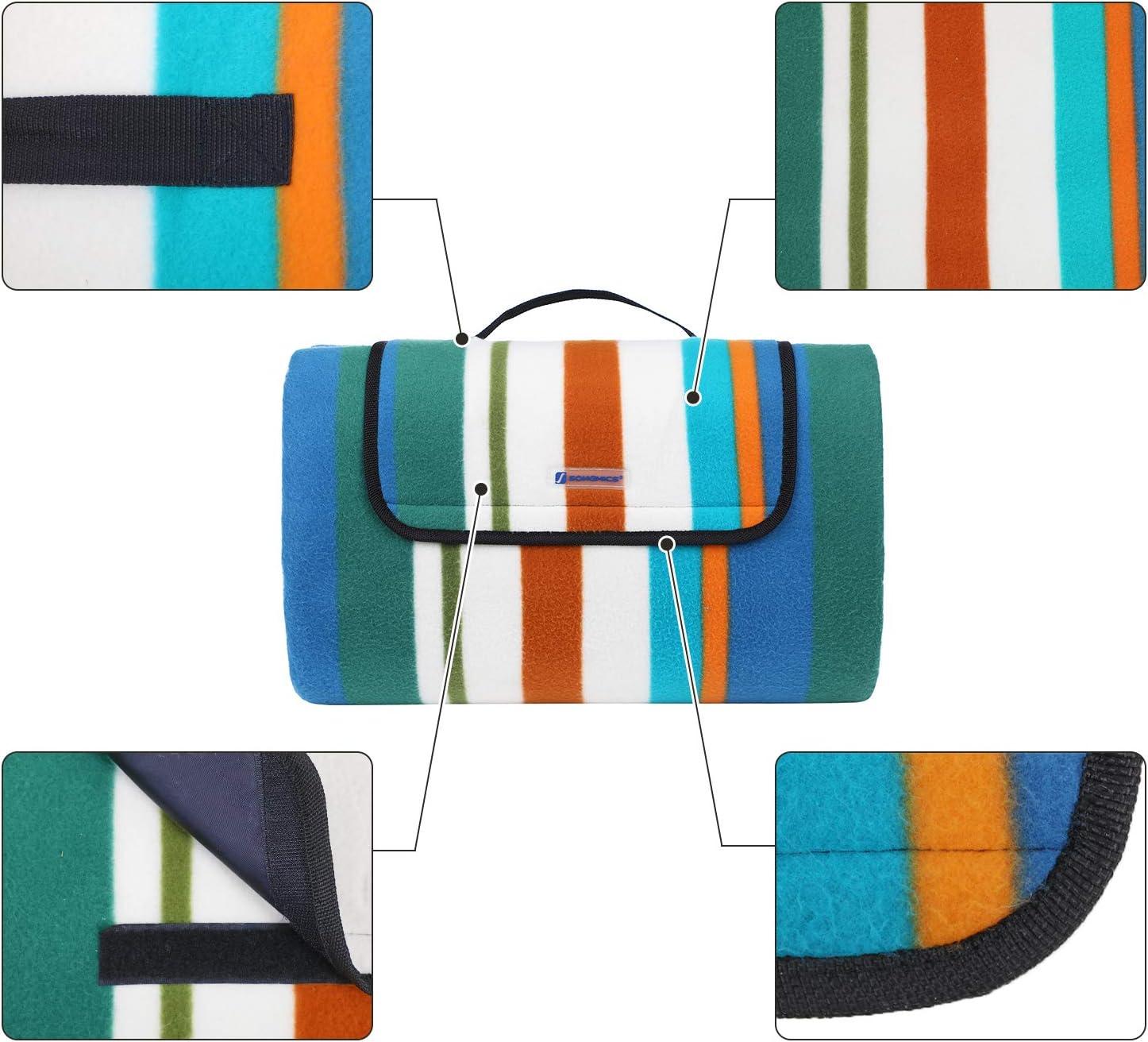 SONGMICS 200 x 200 cm Manta de Picnic Impermeable Alfombra Acolchada para Jard/ín Camping Playa Multiusos Port/átil GCM74J