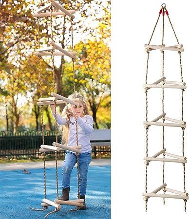 ROCK1ON 5 Pasos Escalera de Cuerda de Escalada para ...