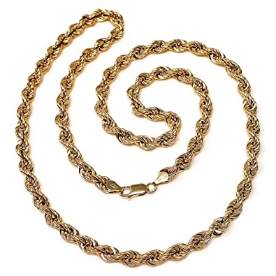 d66c4154462b Cordón cadena oro 18k salomónico 60cm. normal 5mm.  AA1575   Amazon.es   Joyería