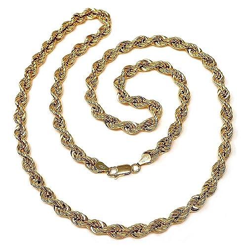 comprar online bajo precio nueva especiales Cordón cadena oro 18k salomónico 60cm. normal 5mm. [AA1575 ...