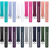 Hamile Bands Compatible for Fitbit Versa/Lite/SE, (12 Pack) Classic Soft Watch Bands for Fitbit Versa and Fitbit Versa & Lite & Special Edition Smartwatch, for Women Men
