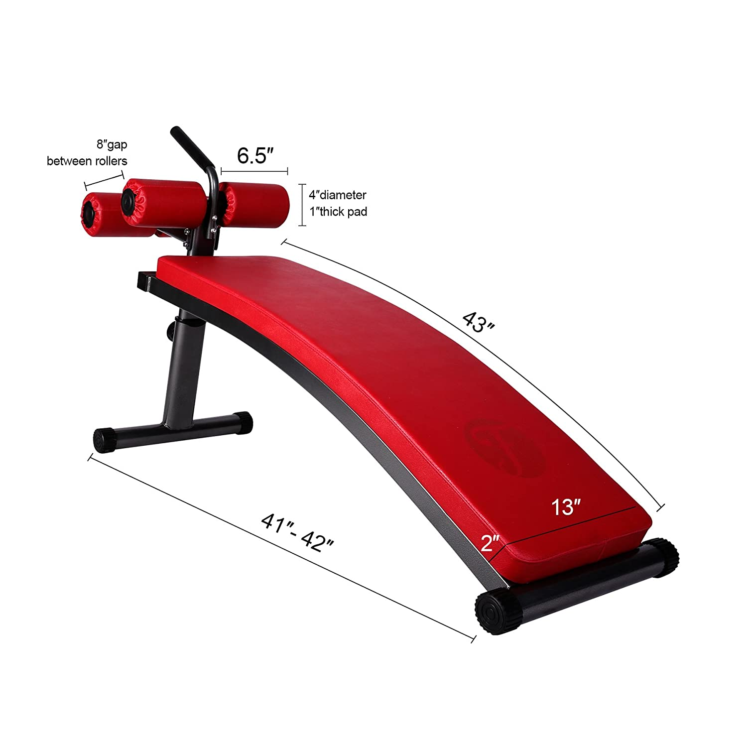 Superb Finer Form Gym Quality Sit Up Bench With Reverse Crunch Handle