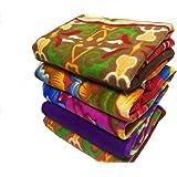 Shivaan Home Furnishing Multipurpose Polar Fleece Single Printed Bed Fleece Blanket (1 Piece)-Assorted Multicolor(Light Weight)