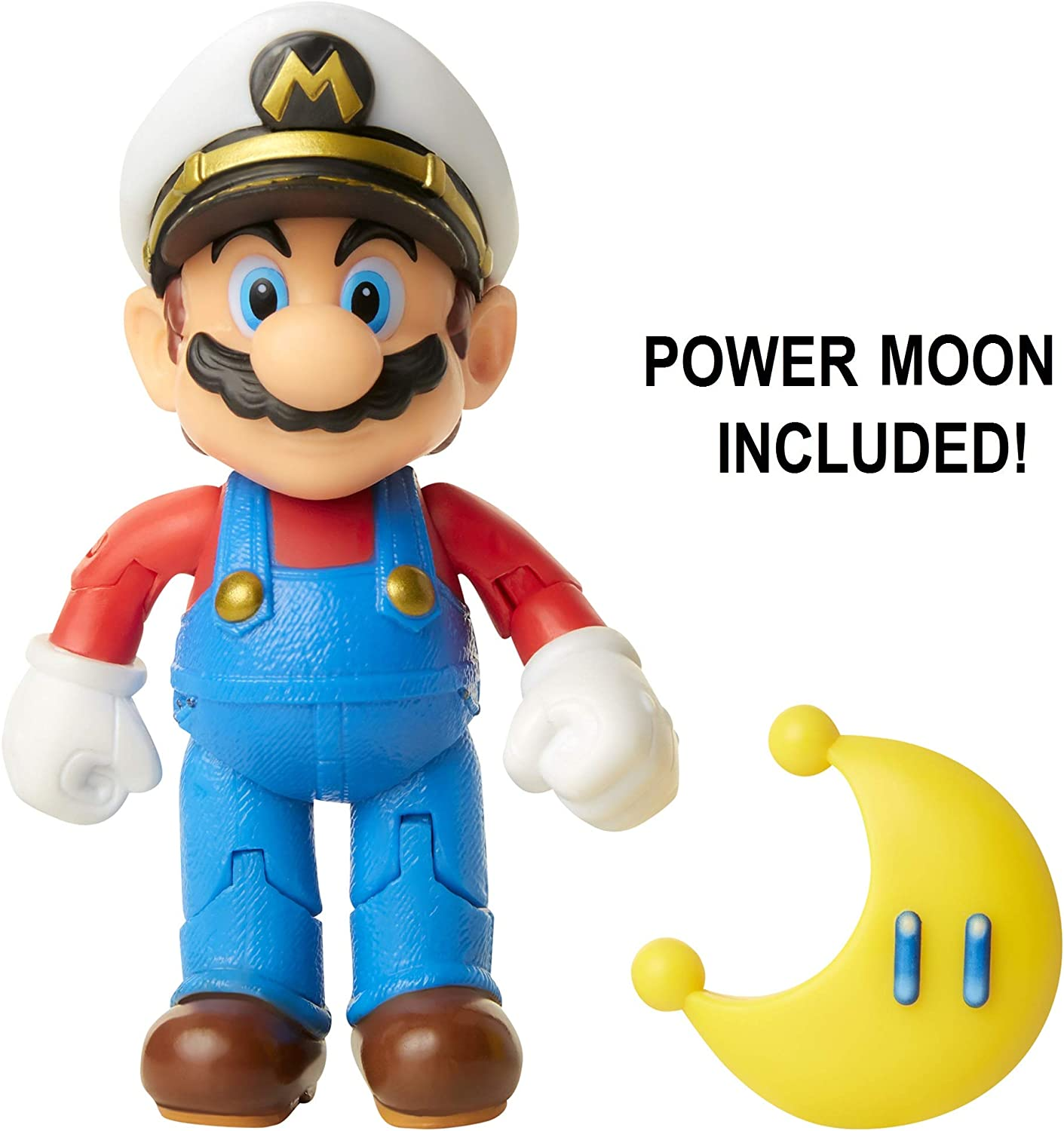 "SUPER MARIO Nintendo Captain Mario 4"" Articulated Figure with Power Moon"