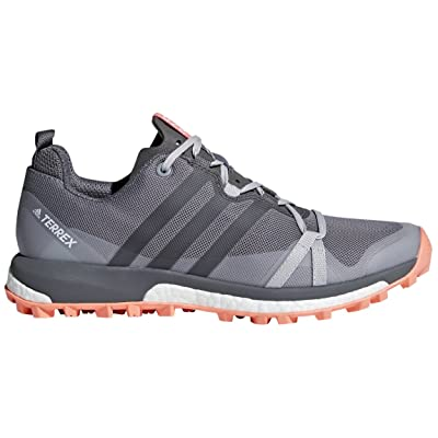 adidas outdoor Women's Terrex Agravic Grey Three/Grey Four/chalk Coral 9.5 B US | Hiking Shoes