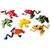 Miniblings 6er Set Frosch Aufstellfiguren Tierfigur Gummitier Frösche Amphibie