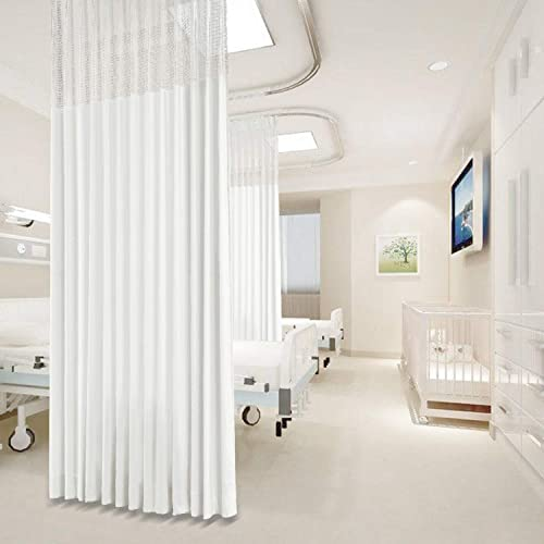 Macochico Extra Wide Medical Curtains,15ft Wide x 8.5ft Tall Pinch Pleated Hospital Curtains,Privacy Cubicle Curtain,White Clinic Curtains,SPA Lab Cubicle Curtain Room Divider 1 Panel
