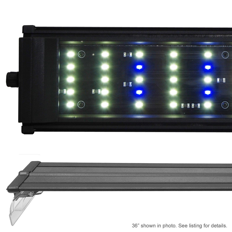 Beamswork 48'' DA 120 6500K LED Aquarium Light Pent Freshwater Plant Discus 120x 0.50W by Beamworks