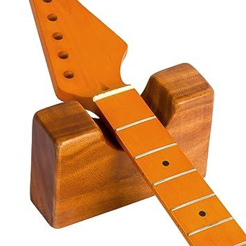 Guitarra cuello resto apoyo para eléctrico acústica guitarra Bass Herramienta de Luthier configuración madera: Amazon.es: Instrumentos musicales