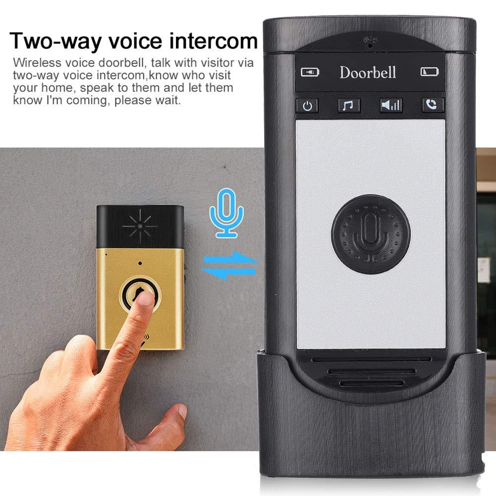 Incluye 1 Receptor de intercomunicaci/ón para Timbre de Puerta del hogar Sonew Walkie-Talkie bidireccional de timbres de Puerta de intercomunicaci/ón Gold para el hogar y Oficina