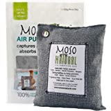 Moso Natural Air Purifying Bag 500g. Bamboo Charcoal Air Freshener, Deodorizer, Odor Eliminator, Odor Absorber For Kitchens and Bedrooms. Charcoal Color